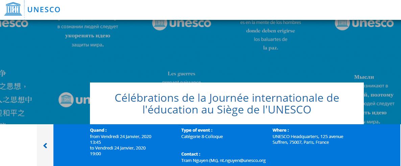 Journée Internationale Education UNESCO