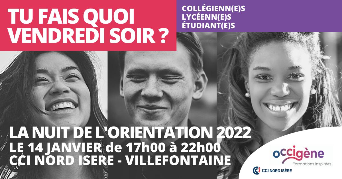 Nuit de l'orientation Isère : Education, formation initiale
