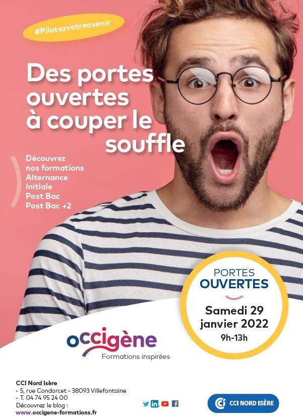 Journée portes ouvertes en Isère oCCIgène Formations centre de formations de la CCI Nord Isère. Postbac, postbac+2